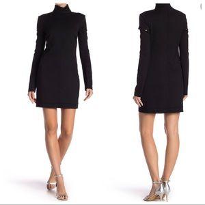 Helmut Lang Long Cutout Sleeve Wool Blend Dress